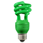 13 Watt - CFL - 60 W Equal - Green Party Light - Energy Miser FE-IIS-13W-G