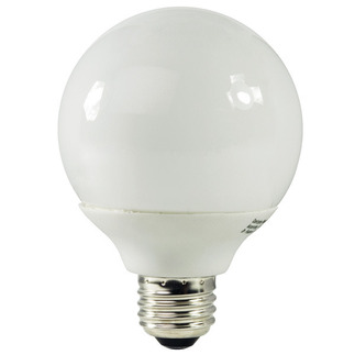 9 Watt - G25 CFL - 40 W Equal - 5000K Full Spectrum - Min. Start Temp. 0 Deg. F - 80 CRI - 50 Lumens per Watt - 15 Month Warranty - Energy Miser FE-G25A-9W-50