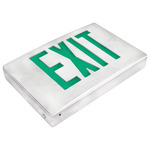 LED - Die Cast Aluminum Exit Sign - 120/277 Volt and Battery Backup - Exitronix G400U-WB-WW