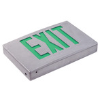LED - Die Cast Aluminum Exit Sign - 120/277 Volt and Battery Backup - Exitronix G400U-WB-BA