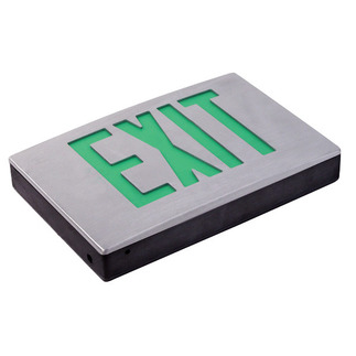 LED - Die Cast Aluminum Exit Sign - 120/277 Volt Only (No Battery) - Exitronix G400U-LB-BL