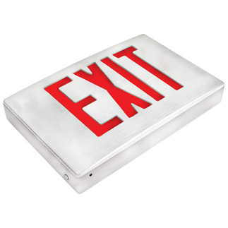 LED - Die Cast Aluminum Exit Sign - 120/277 Volt and Emergency Operation - Exitronix 400U-WB-WW