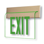 LED - Architectural Deluxe Edge-Lit Exit Sign - 120/277 Volt and Emergency Operation - Exitronix 902-WR-WB-GC-ZC-BA