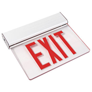 LED - Value Edge-Lit Exit Sign - 120/277 Volt and Emergency Operation - Exitronix V902-U-WB-RC-WH
