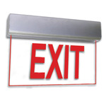 LED - Architectural Deluxe Edge-Lit Exit Sign - 120/277 Volt and Emergency Operation - Exitronix 902-U-WB-RC-ZC-BA