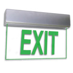LED - Architectural Deluxe Edge-Lit Exit Sign - 120/277 Volt and Emergency Operation - Exitronix 902-U-WB-GC-ZC-BA