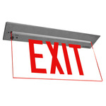 LED - Architectural Deluxe Edge-Lit Exit Sign - 120/277 Volt and Emergency Operation - Exitronix 902-R-WB-RC-ZC-BA
