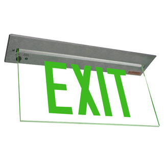 LED - Architectural Deluxe Edge-Lit Exit Sign - 120/277 Volt and Emergency Operation - Exitronix 902-R-WB-GC-ZC-BA