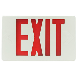 LED - Exit Sign - 120/277 Volt and Battery Backup - Self-Testing - Exitronix VEX-U-BP-WB-WH-G2