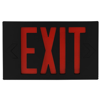LED - Exit Sign - 120/277 Volt and Battery Backup - Exitronix VEX-U-BP-WB-BL