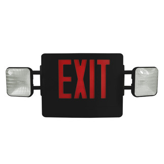 LED - Combination Exit Sign - AC and Emergency Operation - Exitronix VEX-U-BP-WB-BL-EL90
