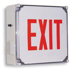 LED - Wet Location Exit Sign - AC and Battery Backup - Exitronix VRC-1-R-WB