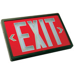 Tritium - Exit Sign - Self-Luminous - 20 Year Effective Life - Exitronix PXP-1R-20-BL