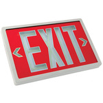 Tritium - Exit Sign - Self-Luminous - 10 Year Effective Life - Exitronix PXP-1R-10-WH