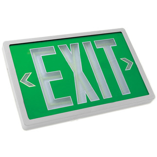 Tritium - Wet Location - Exit Sign - Self-Luminous - 20 Year Effective Life - Exitronix PXP-1G-20-WH