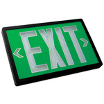 Tritium - Exit Sign - Self-Luminous - 20 Year Effective Life - Exitronix PXP-1G-20-BL