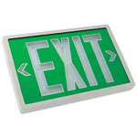 Tritium - Exit Sign - Self-Luminous - 10 Year Effective Life - Exitronix PXP-1G-10-WH