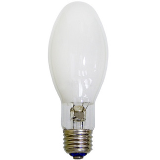 100 Watt - Mercury Vapor - 4500 Lumens - 4100K - Coated - Medium Base - ANSI H38 - HF100PD/MED - EYE 70113 E17 Mercury Vapor