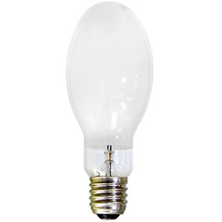 175 Watt - Mercury Vapor - 8900 Lumens - 4100K - Coated - Mogul Base - ANSI H39 - HF175PD - EYE 70260 BT28 Mercury Vapor