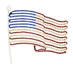 25 in. - Hanging Rope Light Flag - 120 Volt - FlexTec SIV-FAU04