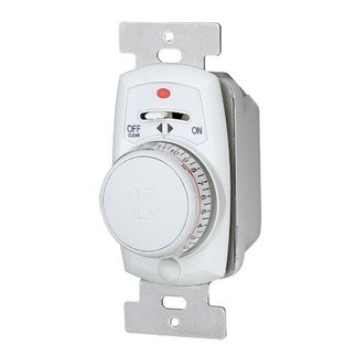 Intermatic EJ351C - 24 Hr. In-Wall Mechanical Security Timer - SPST - 1 Gang - 120 Volt - White