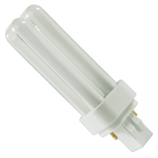 GE 18844 - F13DBX23T4/SPX27 - NAED 20691 - 13 Watt - 2 Pin GX23-2 Base - 2700K - CFL Light Bulb Plug In CFL