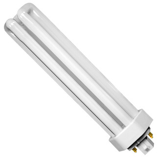 GE 48864 - F57QBX/841/A/ECO - NAED 20899 - 57 Watt - 4 Pin GX24q-5 Base - 4100K - CFL Light Bulb Plug In CFL