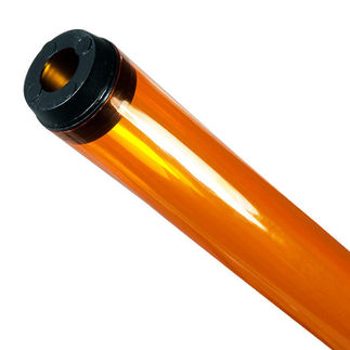 48 in. - T12 - Amber - Tube Guard with End Caps - Colored Plastic Lamp Sleeve