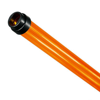 48 in. - T5 - Amber - Tube Guard with End Caps - Colored Plastic Lamp Sleeve
