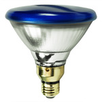 85 Watt - PAR38 - Blue - Reflector Flood - 120 Volt - Medium Skirted Base - Incandescent Light Bulb - GE Lighting 13465