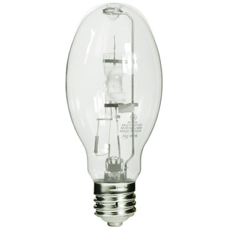 150 Watt - ED28 - Probe Start - Metal Halide - Unprotected Arc Tube - 4000K - Mogul Base - ANSI M57 or M107/E - Universal Burn - GE Lighting 13481 ED28 Metal Halide