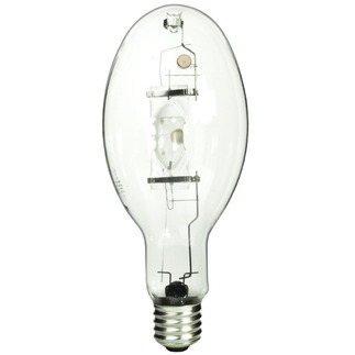 400 Watt - ED37 - Pulse Start - Metal Halide - Unprotected Arc Tube - 4000K - Mogul Base - ANSI M135 or M155 - Vertical Base Up Burn - GE Lighting 12642 ED37 Metal Halide