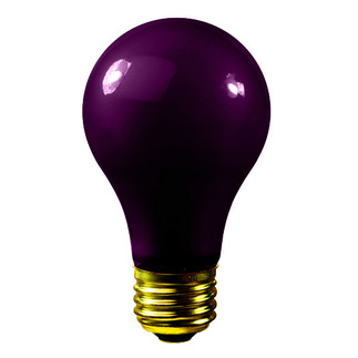 75 Watt - A19 - Black Light - 120 Volt - 500 Life Hours - Medium Base - Bulbrite 106975