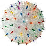 (100 Bulbs) Multi-Color - 120 Volt - Christmas Starlight Sphere - 7.5 in. Diameter - GKI Bethlehem 724701