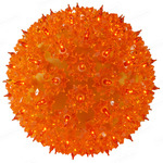 (100 Bulbs) Orange - 120 Volt - Christmas Starlight Sphere - 7.5 in. Diameter - GKI Bethlehem 724703