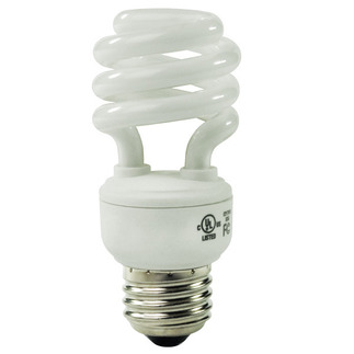 13 Watt - CFL - 60 W Equal - 4100K Cool White - Min. Start Temp. 0 Deg. F - 80 CRI - 63 Lumens per Watt - 15 Month Warranty - Global Consumer Products 063 Screw In CFL