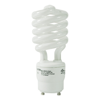 26 Watt - 100 W Equal - Full Spectrum 5000K - CFL Light Bulb - GU24 Base - Global Consumer Products 086 GU24 CFL