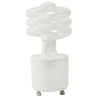 13 Watt - 60 W Equal - Cool White 4100K - CFL Light Bulb - GU24 Base - Global Consumer Products 079 GU24 CFL