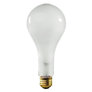 300 Watt - Frosted - PS25 - Medium Base - 130 Volt - 5,000 Life Hours - Halco 401306 Standard Light Bulb