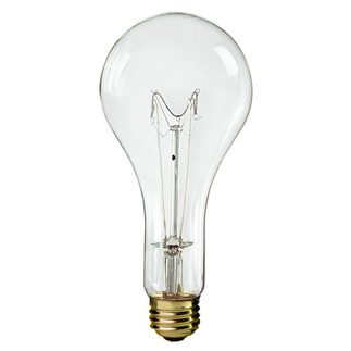 300 Watt - Clear - PS25 - 130 Volt - Medium Base - 5,000 Life Hours - Halco 401305 Standard Light Bulb