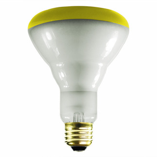 65 Watt - BR30 - Yellow - Flood - 130 Volt - 5,000 Life Hours - Halco 404053