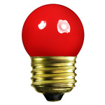 7.5 Watt - S11 - Opaque Red - 130 Volt - Medium Base - Party Light Bulb - Halco 7019