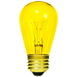 11 Watt - S14 - Transparent Yellow - 130 Volt - 3,000 Life Hours - Medium Base - Sign Light Bulb - Halco 9053
