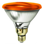 100 Watt - PAR38 - Amber - Reflector Flood - 120 Volt - Medium Skirted Base - Incandescent Light Bulb