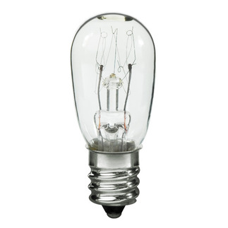 6 Watt - Clear - S6 - Candelabra Base - 24 Volt - 1,500 Life Hours 24 Volt Light Bulb