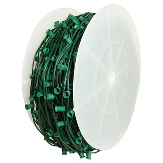 C9 Stringer - 1,000 Foot - 666 Sockets - 18 in. Spacing - Green Wire - Commercial Christmas Lights - HLS C9100018G
