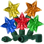 Multi Color - 25 LED Bulbs - Star Shape - Length 13 Ft. - Bulb Spacing 6 in. - Featuring the Diogen Quick Connection System