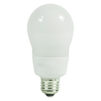 15 Watt - A-Shape CFL - 40 W Equal - 5000K Full Spectrum  - Min. Start Temp. 0 Deg. F - 82 CRI  - 15 Month Warranty - Satco S7293