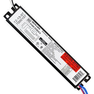 Howard E3/32IS-277SC-BP - 277 Volt - Instant Start - Ballast Factor 0.87 - Power Factor 98% - Min.Temp. Rating 0 Deg. F - Operates (2 or 3) F32T8 Fluorescent Lamps
