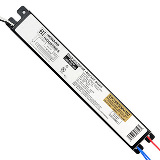 Howard EP2/59IS/MV/SC - 120/277 Volt - Instant Start - Ballast Factor 0.87 - Power Factor 99% - Min. Temp. Rating 0 Deg. F - Operates (2) F96T8 Fluorescent Lamps